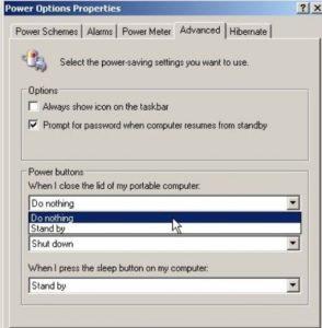 آموزش بستن در لپ تاپ بدون خاموش شدن سیستم در ویندوز XP