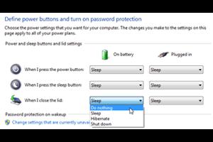 بستن لپ تاپ بدون خاموش شدن سیستم